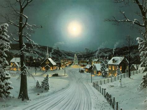 Paisaje Idílico de Navidad - Wallpapers