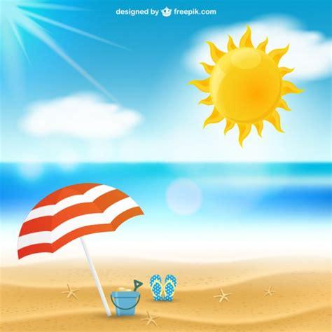 Paisaje marino del verano | Descargar Vectores gratis