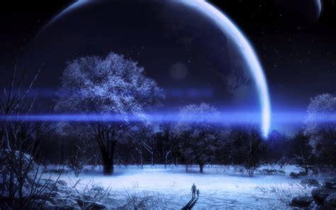 Paisaje nocturno con efectos 3D :: Imágenes y fotos