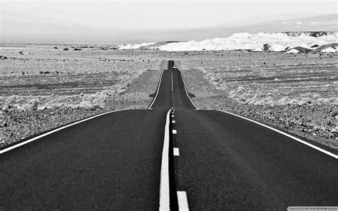 paisajes en blanco y negro de carreteras de la naturaleza ...