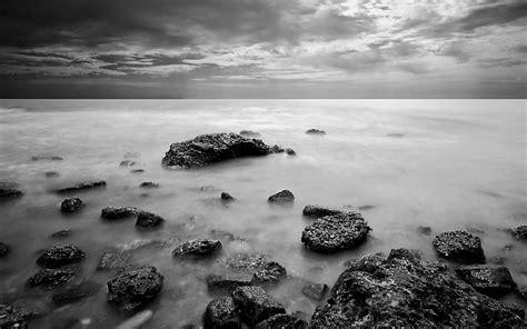 paisajes en blanco y negro naturaleza monocromo mar fondos ...