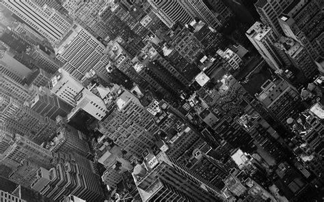 paisajes urbanos en blanco y negro de edificios urbanos ...