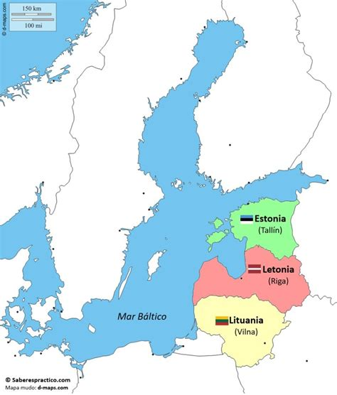 Países bálticos: ¿Dónde están? ¿Cuáles son?  mapa  | Saber ...
