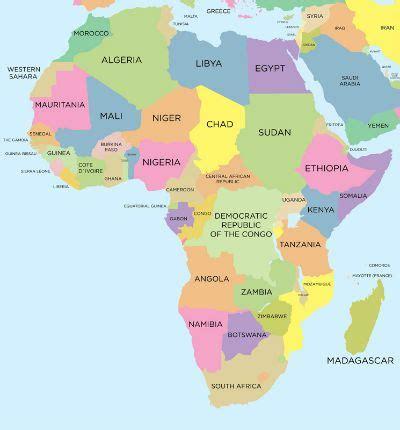 Países da África   Toda Matéria