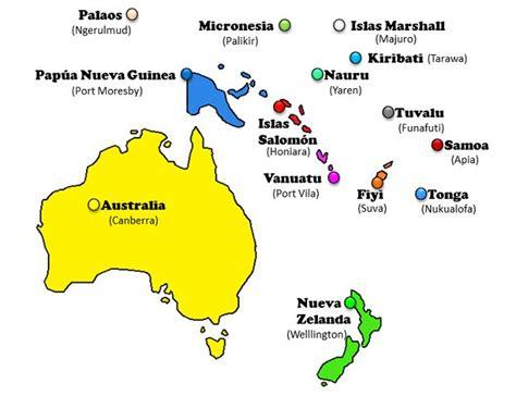 Países y capitales de Oceanía   Saber Es Práctico
