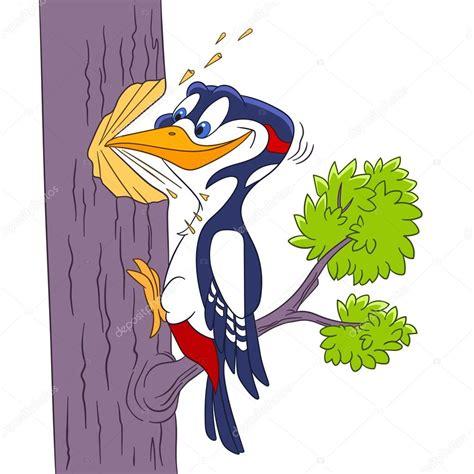 pájaro carpintero de dibujos animados — Archivo Imágenes ...