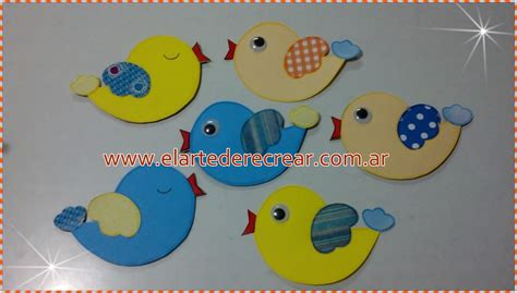 Pájaros de cartulina de colores   RECREAR - MANUALIDADES ...