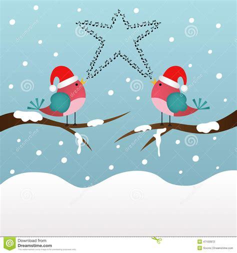 Pájaros De La Navidad Del Canto Ilustración del Vector ...