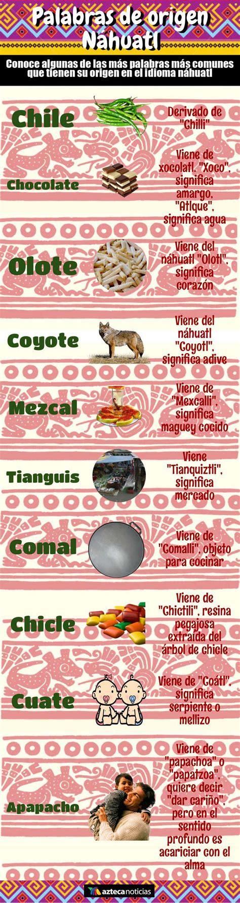 palabras en nahuatl y su significado palabras de origen n ...