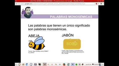 PALABRAS POLISÉMICAS Y MONOSÉMICAS   YouTube