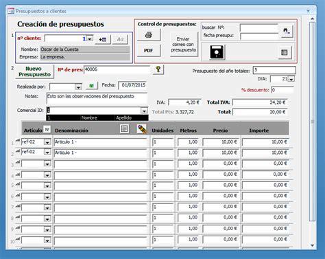 Palentino Blog - Presupuestos en Access
