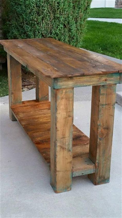Pallet Console Table/ End Table/ Sofa Table | 99 Pallets