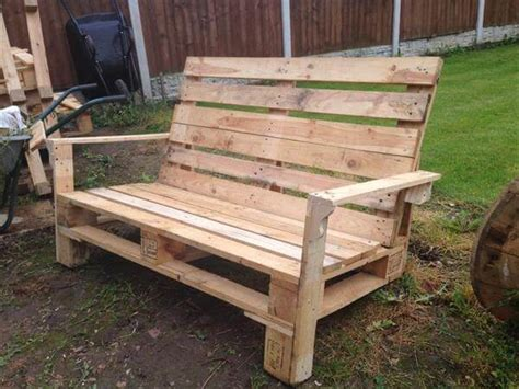 Pallet Two Seater Bench