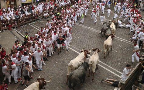 Pamplona 2017: San Fermin bull running festival, in ...