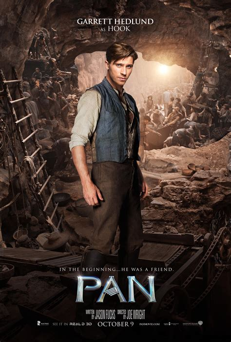 Pan Character Posters Feature Hugh Jackman and Levi Miller ...