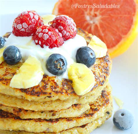 Pancakes de Yogurt griego y avena | Comida saludable ...