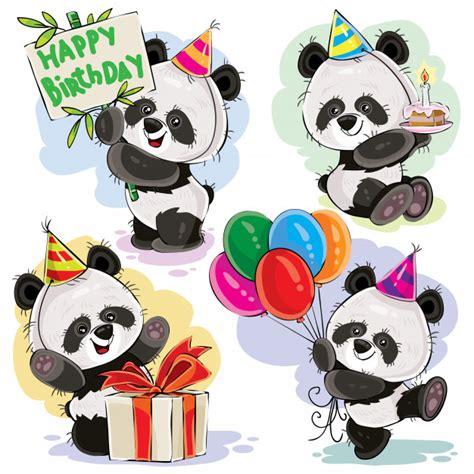 Panda bear baby célèbre le vecteur de dessin animé d ...