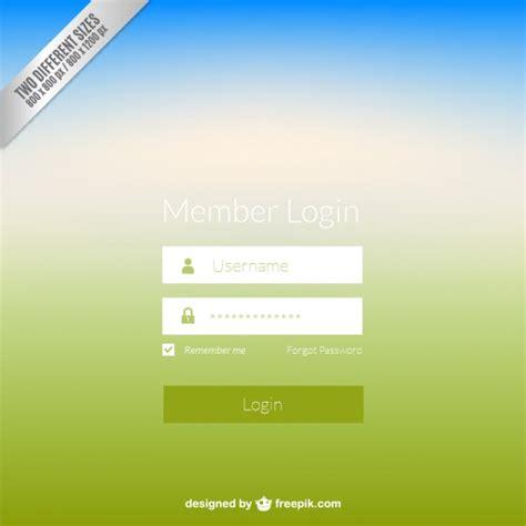 Panel de inicio de sesión Web | Descargar Vectores gratis