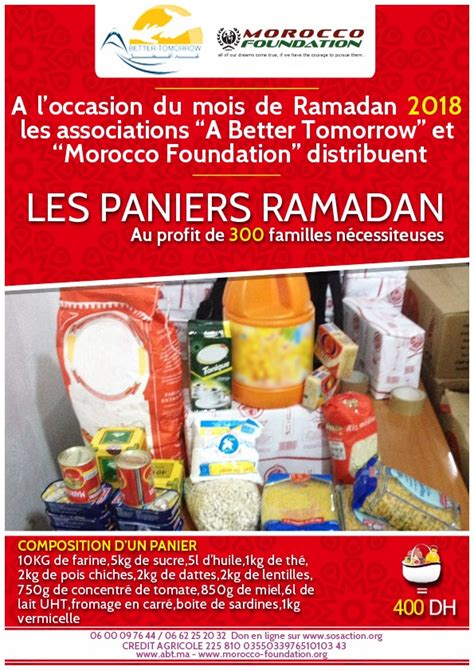 Paniers Ramadan 2018 | SOSAction.org