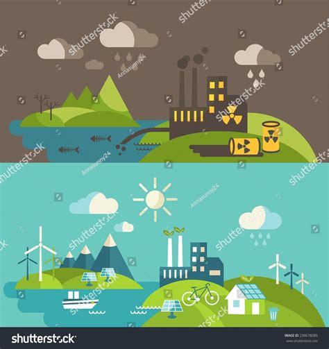 Panoramic Landscape Ecology Concept Concept Pollution ...