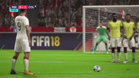 Paolo Guerrero Free Kick Goal vs Colombia 10/10/17  FIFA ...