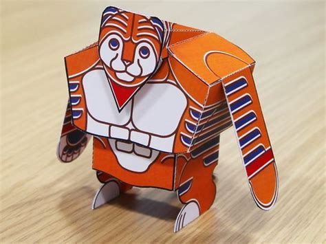Papa Tony the Tiger Free Paper Toy Download