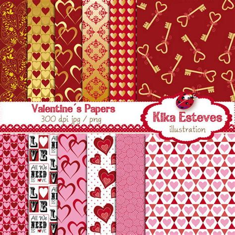 Papéis Digitais Dia dos Namorados no Elo7 | Kika Digital ...