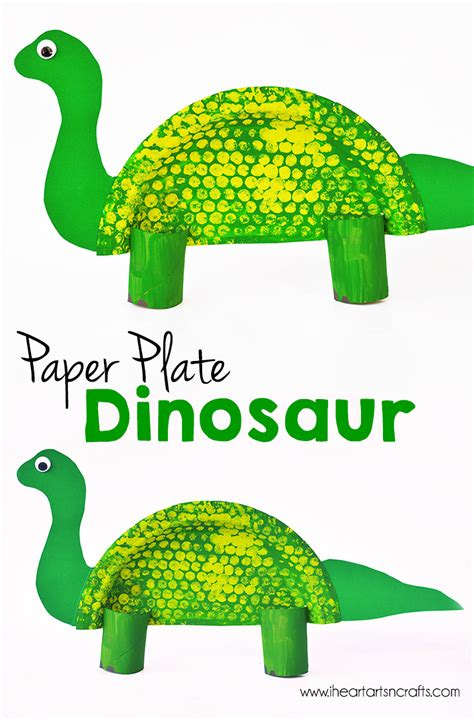 Paper Plate Dinosaur Kids Craft - I Heart Arts n Crafts