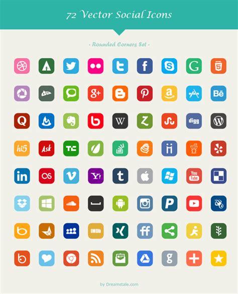 Paquete con 72 Iconos de redes sociales en 6 estilos ...