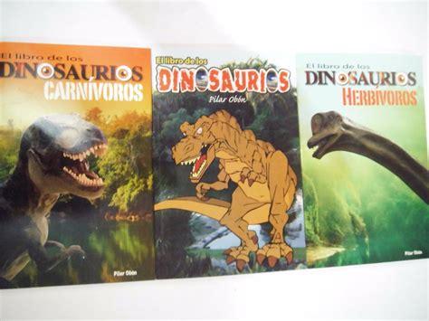 Paquete Dinosaurios Hervivoros Carnivoros 3 Libros Dia ...