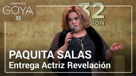Paquita Salas entrega el Goya a Actriz Revelación | # ...