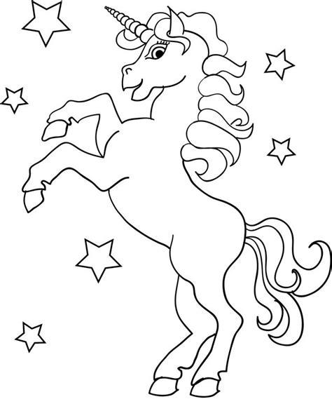 Para Colorear Y Pintar Imprimir Dibujos De Unicornio Niños ...