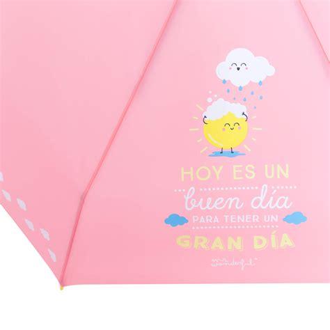 Paraguas pequeño Hoy es un buen día para tener un gran día ...