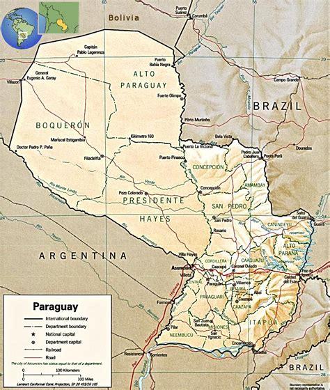 Paraguay Map, Asuncion