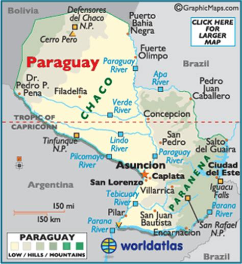 Paraguay Map / Geography of Paraguay / Map of Paraguay ...