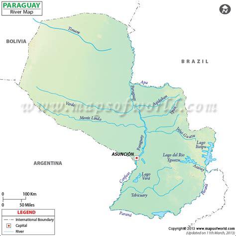Paraguay River Map