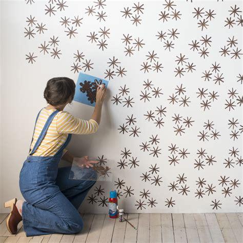 Pared decorada con stencil | Kireei, cosas bellas