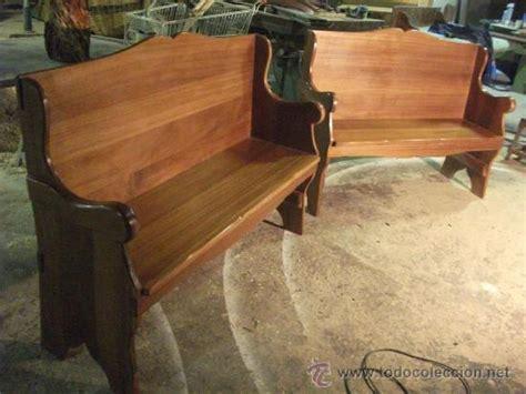pareja de escaños o bancos de madera de iroko p   Comprar ...