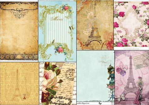 París Vintage: Fondos, Papeles y Tarjetas para Imprimir ...