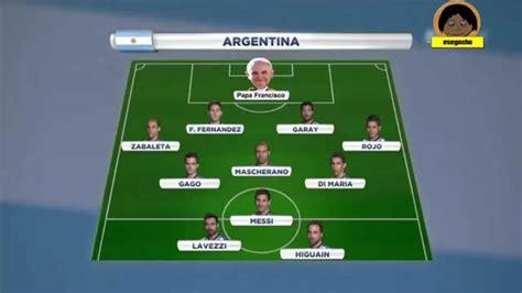 Parodia - Alineacion de argentina - YouTube