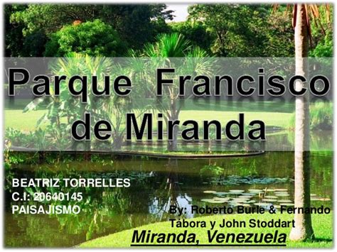 Parque Francisco de Miranda Caracas, Venezuela