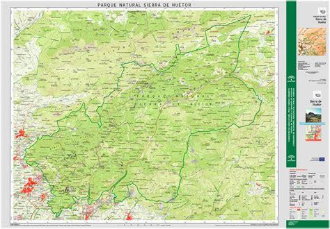 Parque Natural Sierra de Huétor. Mapa guía. Escala 1:25 ...