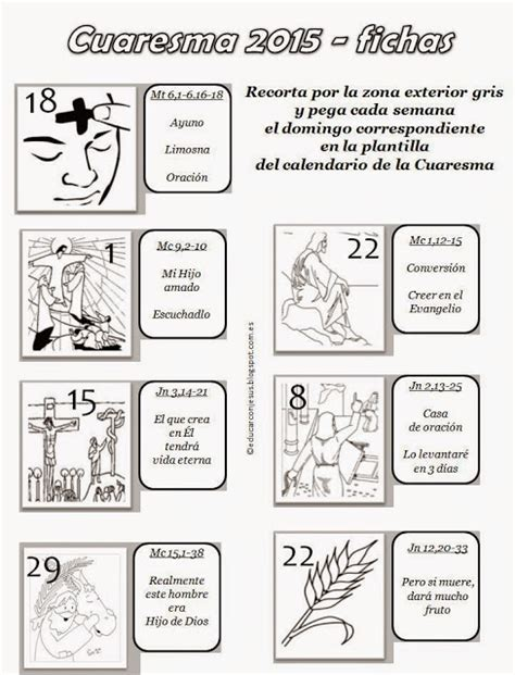 Parroquia La Inmaculada: Calendarios Cuaresma 2015