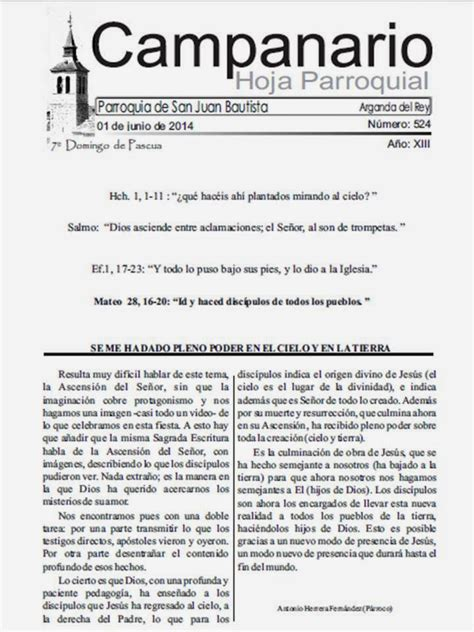 Parroquia San Juan Bautista de Arganda del Rey: mayo 2014
