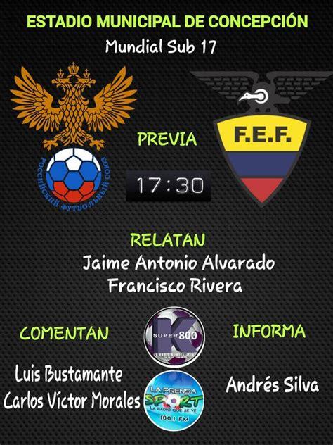 Partido Rusia vs Ecuador en Vivo - Mundial Sub 17 2015