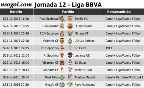 Partidos Jornada 12. Liga Española BBVA 2015 - Mundial ...