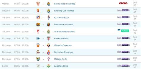 Partidos y horarios LaLiga Santander e internacional en ...