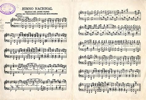 Partitura Himno Nacional Mexicano | Partituras | Pinterest