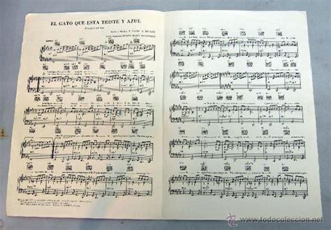 partitura letra canción roberto carlos el gato - Comprar ...