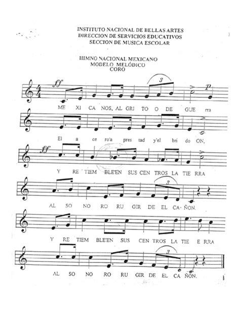 Partituras Himno Nacional Mexicano